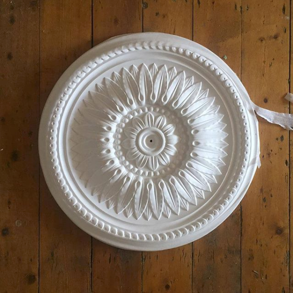 Sunflower Plaster Ceiling Rose 520mm dia. MPR006 - PlasterCeilingRoses.com