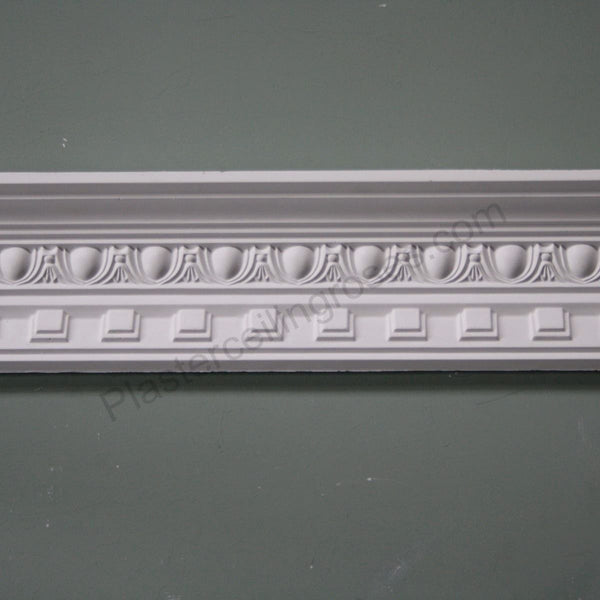 Plaster Coving Dentil Egg & Dart 90mm Drop MPC019