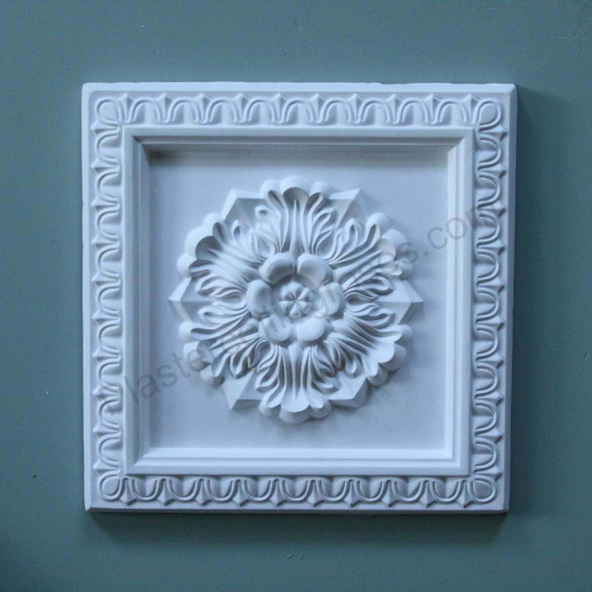 Square Floral Plaster Wall Plaque WP004