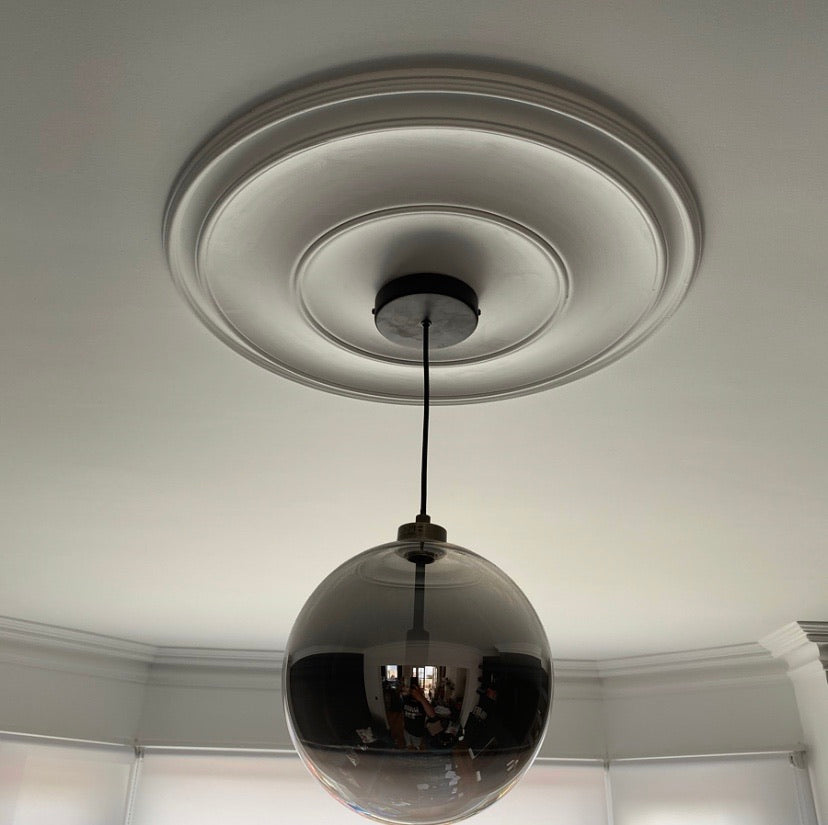 Plain Spun Plaster Ceiling Rose Diameter 600MM MPR073 - PlasterCeilingRoses.com