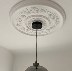 Rose Pattern Plaster Ceiling Rose 600mm dia. MPR018 - PlasterCeilingRoses.com