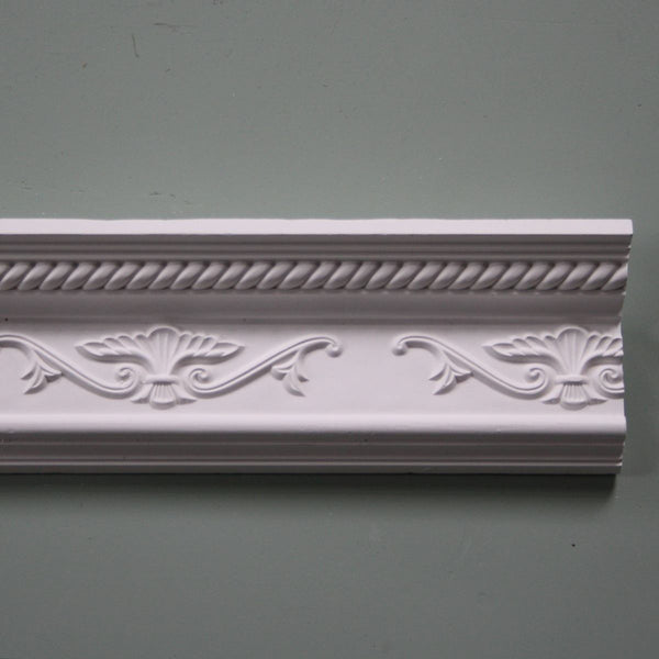 Plaster Coving Decorated 115mm Drop LPC008