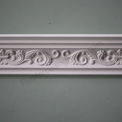 Plaster Coving Fleur de Lys 110mm Drop MPC003 - PlasterCeilingRoses.com