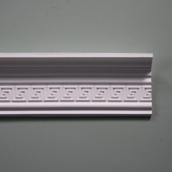 Plaster Coving Greek Key 100mm Drop MPC004 - PlasterCeilingRoses.com