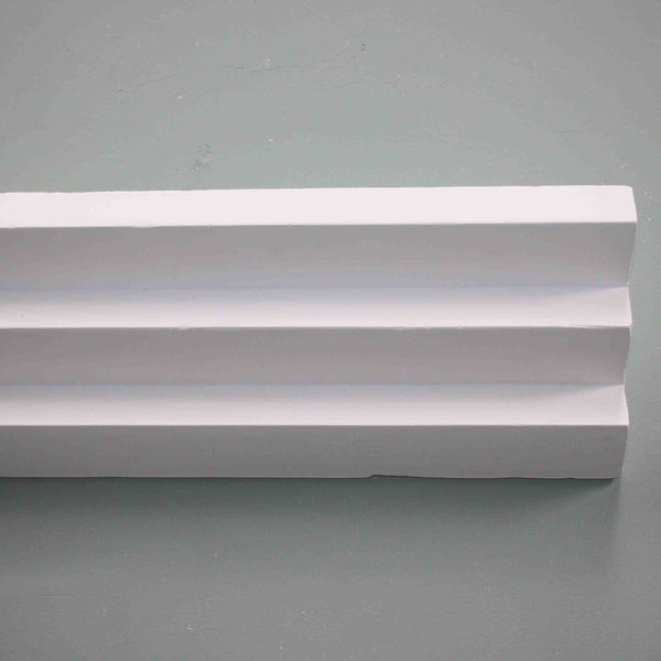 Plaster Coving Three Step Art Deco 120mm Drop MPC055