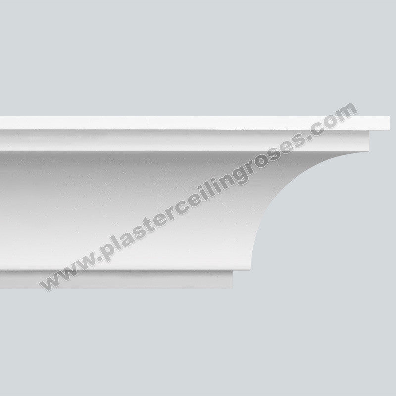 Plaster Coving Large Plain 120mm Drop LPC012 - PlasterCeilingRoses.com