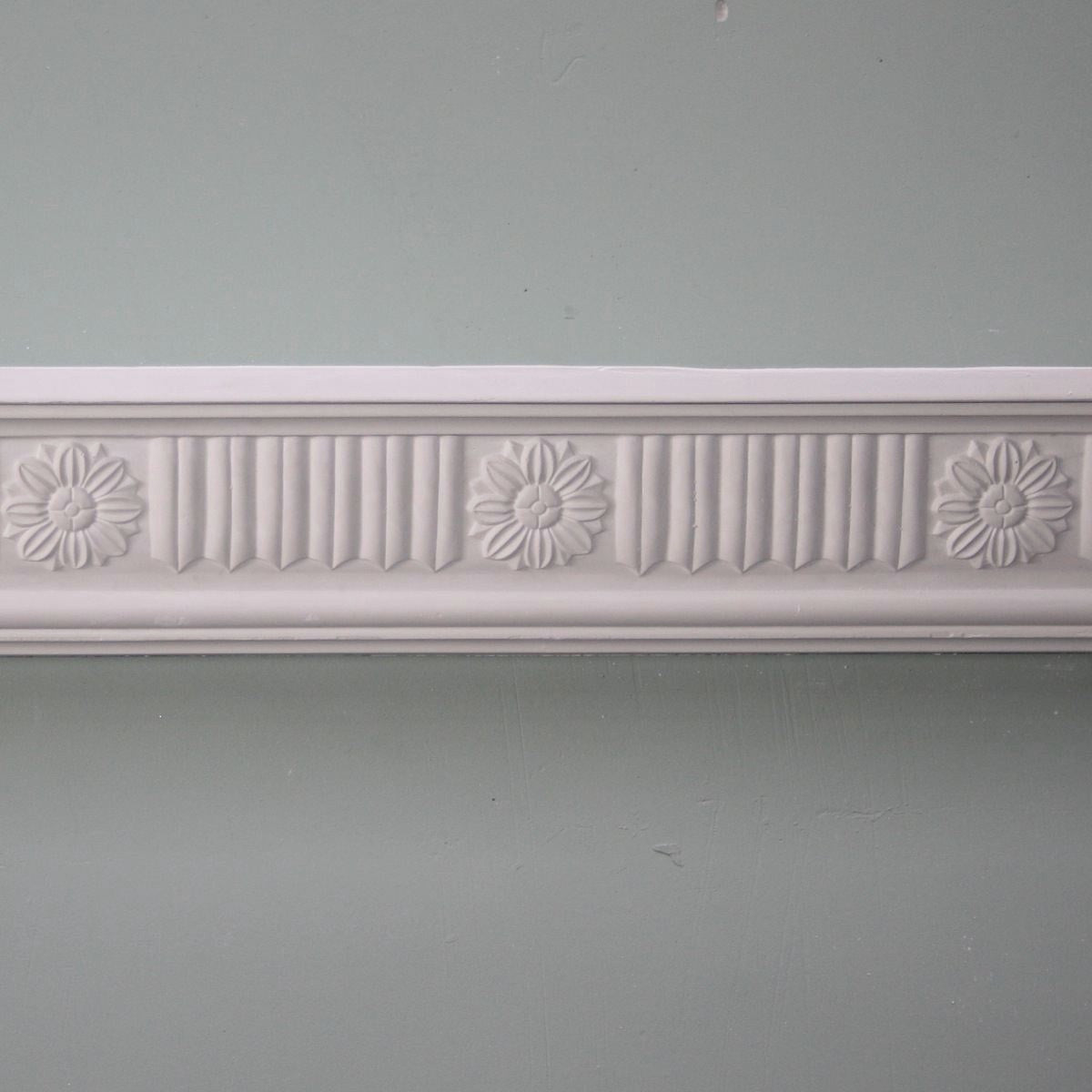 Plaster Coving Georgian Daisy 85mm SPC023 - PlasterCeilingRoses.com