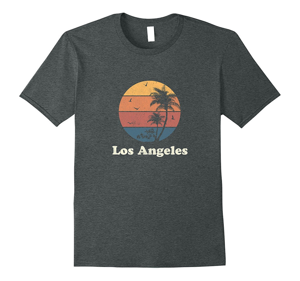 Retro Los Angeles Ca T Shirt Vintage Sunset Palm Trees