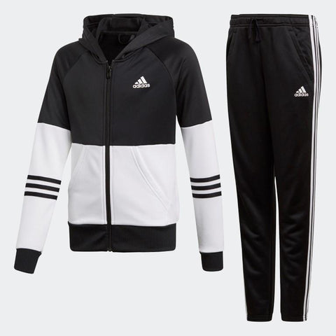 Adidas Young Girls Hooded Tracksuit-Mikka Online