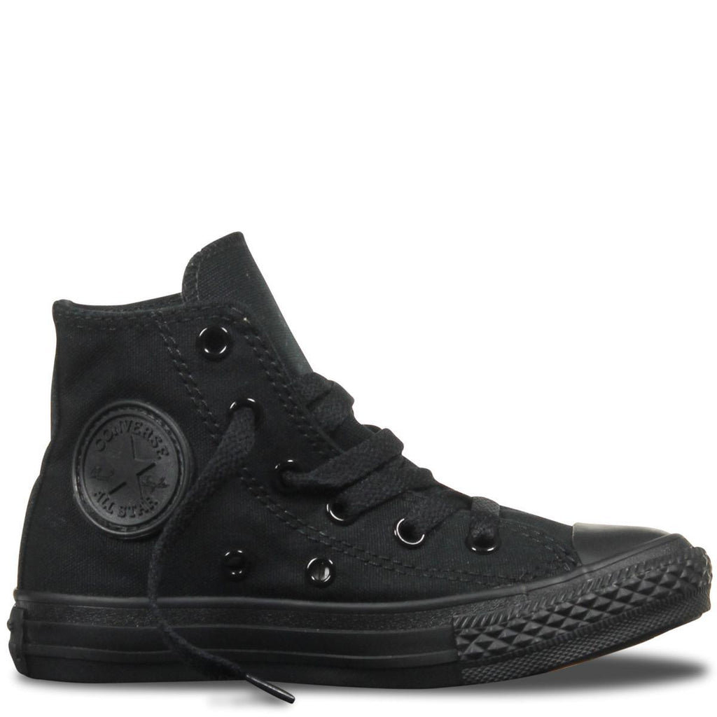 Converse Chuck Taylor All Star Classic Canvas Kid's Hi Top - Black Mono-Mikka Online