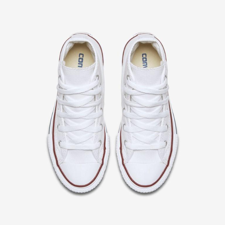 Converse Chuck Taylor All Star Classic Canvas Kid's Hi Top - White-Mikka Online