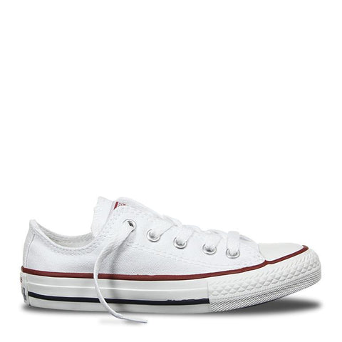 Converse Chuck Taylor All Star Classic Canvas Kid's Lo Top - White-Mikka Online