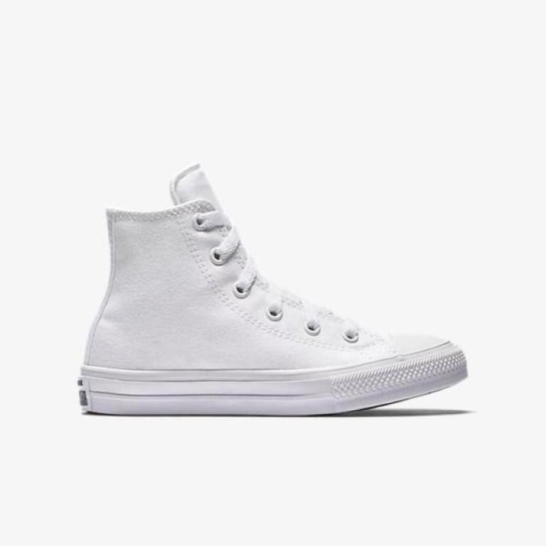 Converse Chuck Taylor All Star II Canvas Kid's Hi Top - White-Mikka Online