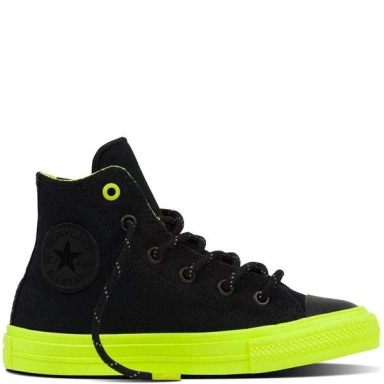 Converse Chuck Taylor All Star II Shield Canvas Kid's Hi Top - Black-Mikka Online