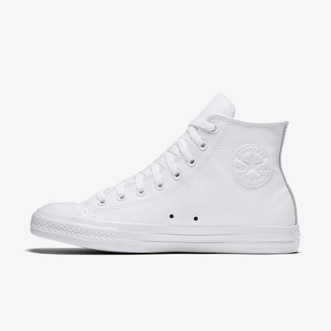 Converse Chuck Taylor All Star Leather High Top - White Mono-Mikka Online