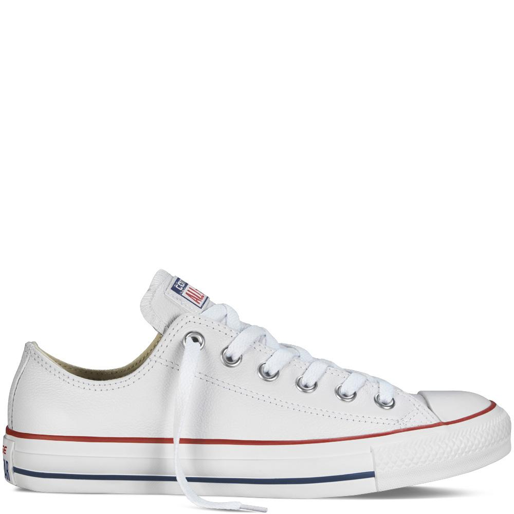 Converse Chuck Taylor All Star Leather Low Top - White-Mikka Online