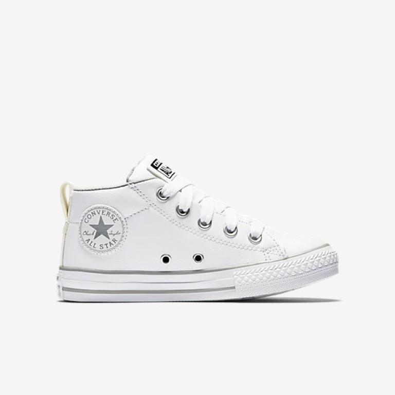 3ea7e09013df Converse Chuck Taylor All Star Street Mid Kid s Hi Top - White-Mikka Online