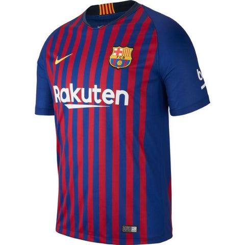 Nike Breathe FC Barcelona 2018/19 Home Stadium Men's Soccer Jersey-Mikka Online