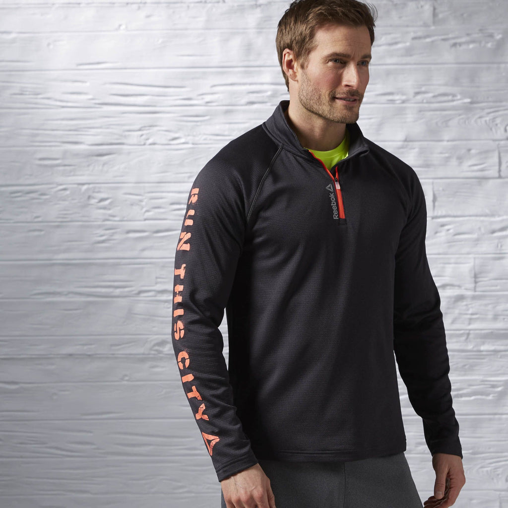 Reebok Running Essentials Long Sleeve 1/4 Zip Men Top-Mikka Online