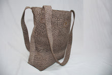 Pebble Print Soft Leather Bucket Tote