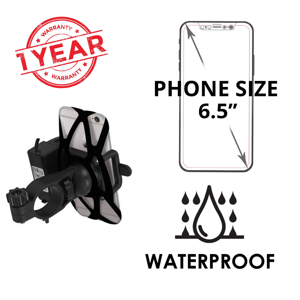 promo code 5ee8d ce29b Blackcat Mobile Holder with charger for Bike – MyAutozone.in