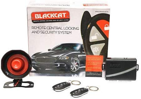 Blackcat Car Central Locking Alarm System BSA-4D | 2 remotes | 4 Door Locking Motors | Security Alarm