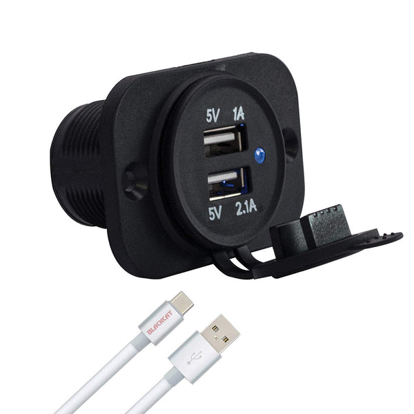 Blackcat Bus Mobile Charger OEM Approved | Passenger/ Car Rear Seat Charger 3.1A | Dual Port