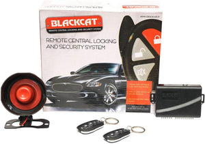 Blackcat Car Central Locking Alarm System | 2 remotes | key-less entry