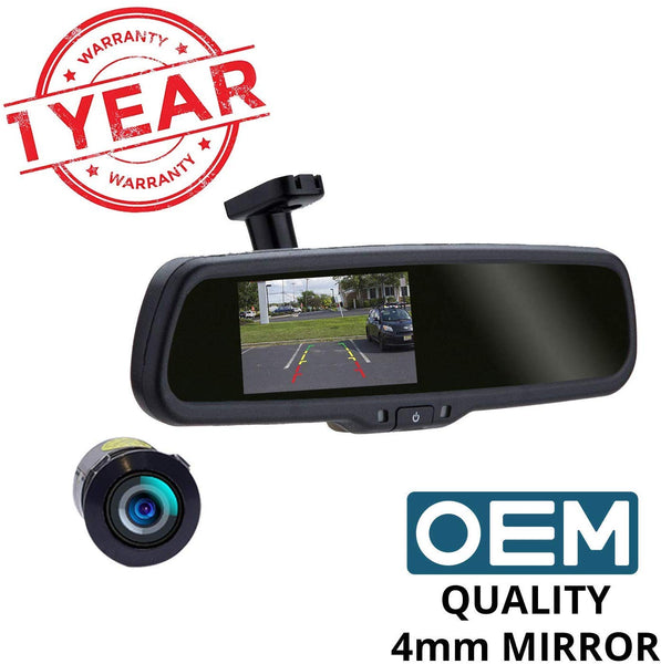 Reverse Parking Camera with auto-brightness In-mirror Display | 120í«̴́ Wide Angle