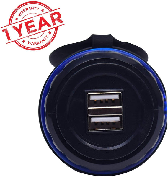 Blackcat Bus Mobile Charger OEM Approved | Passenger/Car Rear Seat Charger 3.1A | Dual Port | Sleek Design