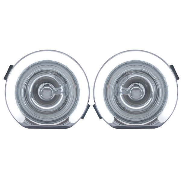 Blackcat Bolero Fog lamp with DRL (Set of 2) With Wiring Harness & Switch; High Power LED