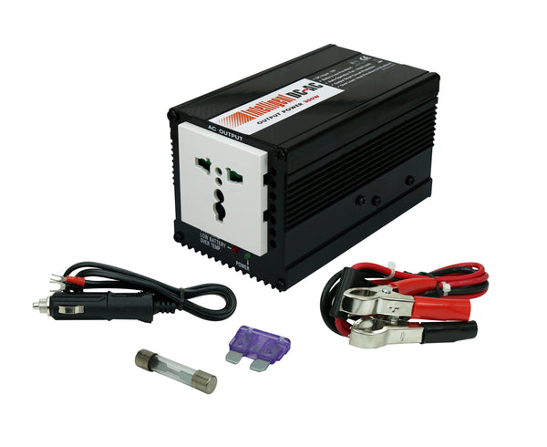 Blackcat 300W Car Inverter- 220V AC Output; Laptop Charger (12 -24 V Input)