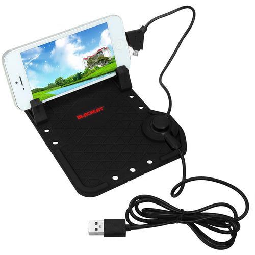 Anti-slip Mobile Holder with Magnetic cable and silicone stand