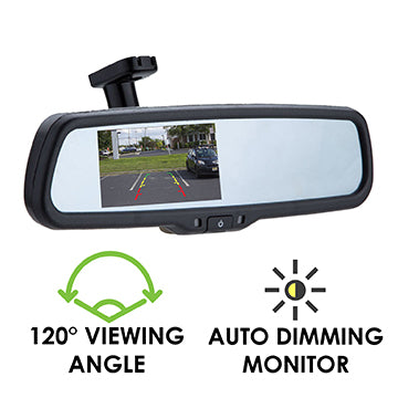 Reverse camera with auto-brightness monitor (in-mirror) RCMAD-1000
