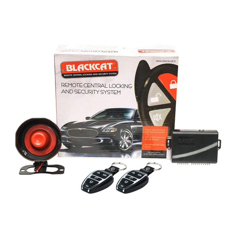 Blackcat Universal Remote Central Locking System with Siren | 1 Door Locking Motor | 2 remote for Keyless Entry| 3 Years Warranty