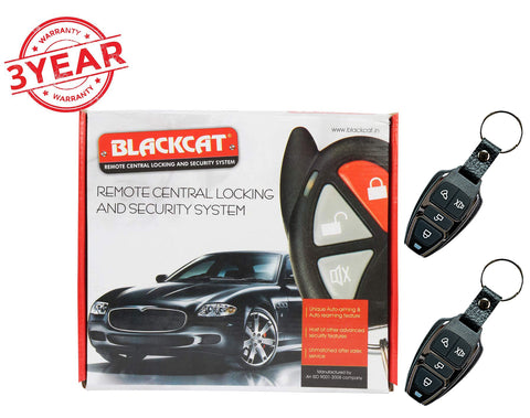Blackcat Car Central Locking System BSA-4D with 2 Remotes, 5 Door Lock Motors