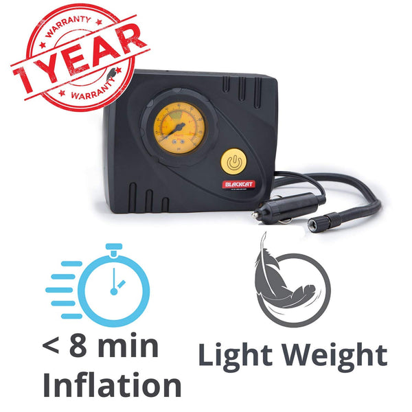 Blackcat Compact Portable Tyre Inflator Air Pump for Cars & Bikes Liliput
