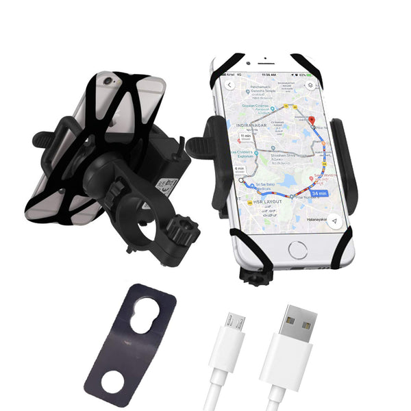 Blackcat Mobile Holder Charger for Bike and Activa
