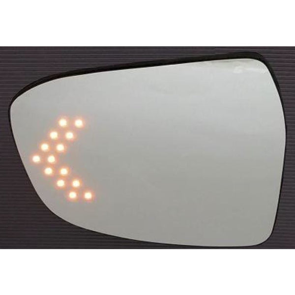 Stylish rear view mirror with LED blinker (ORVM plate)