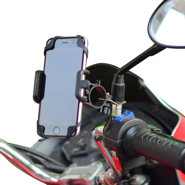 Blackcat Bike scooter Mobile Holder with charger for bikes & scooter v2 (2019) free micro usb cable