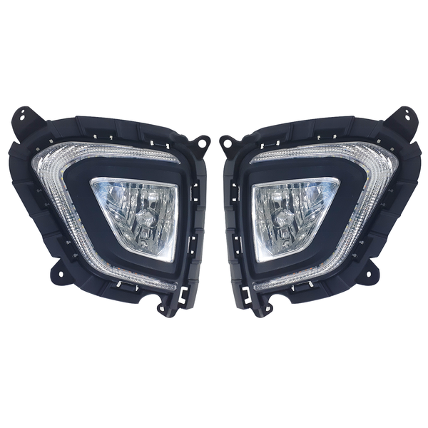 Blackcat Fog Light for Creta with DRL cum Indicator (Set of 2) with Wiring Harness & Switch