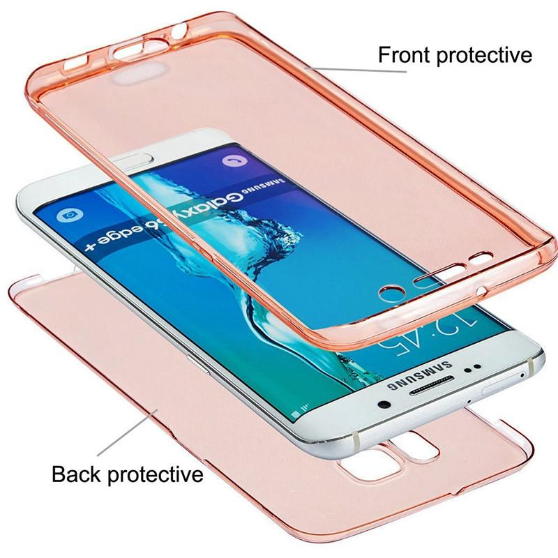360° Front And Back TPU Case For SAMSUNG, HTC, HUAWEI, LG and IPHONE