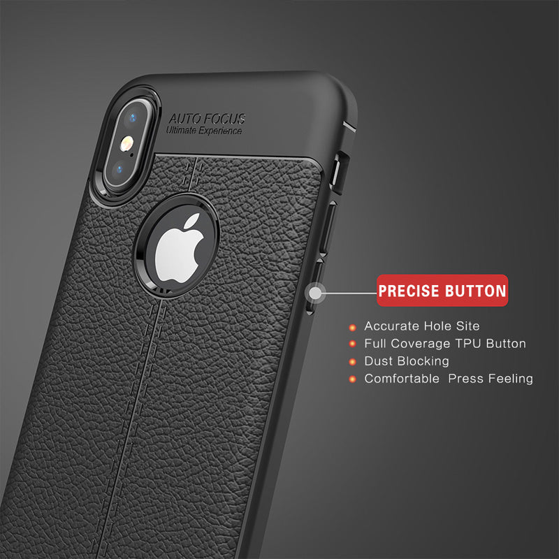 iphone X leather tpu case