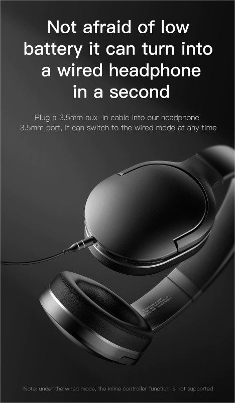 Baseus D02 Wireless Headphone Bluetooth 5.0 Earphone Handsfree in Pakistan