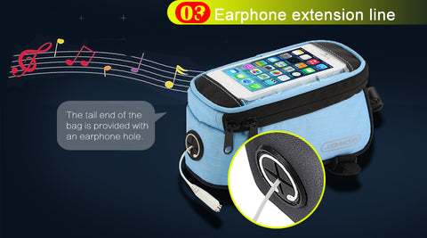 roswheel bicycle mobile phone cover earphone extension