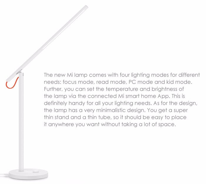 Original Xiaomi Mijia LED Desk Lamp Smart Table Lamps description