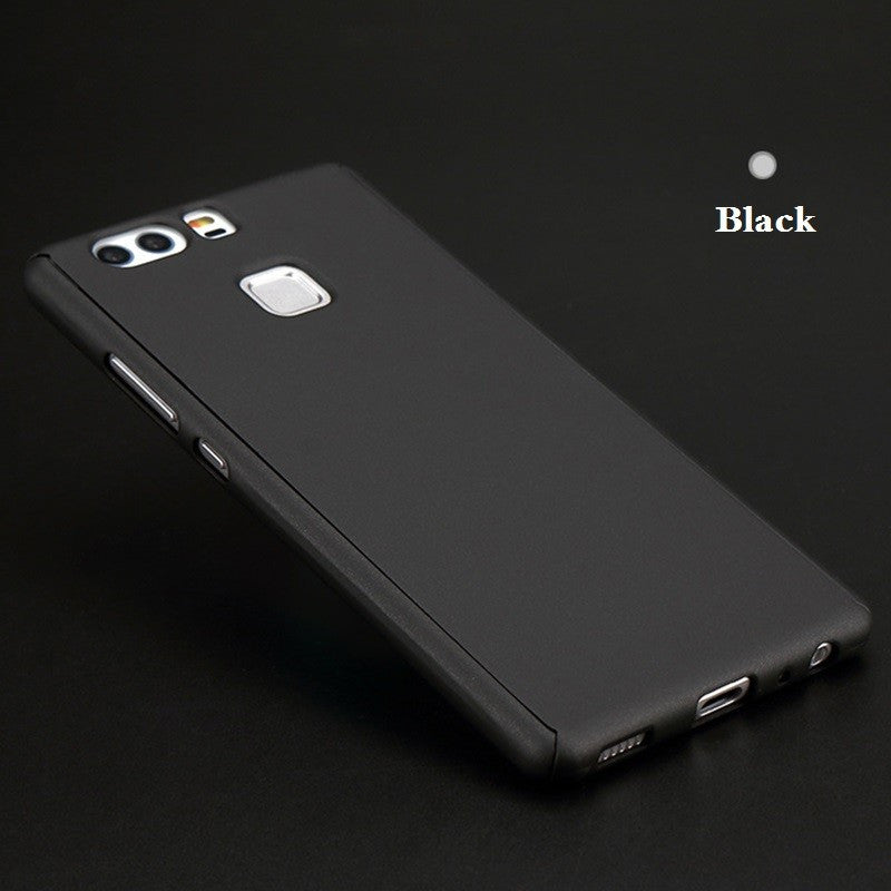 Huawei P9 front back iPaky black cover with glass