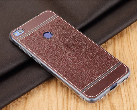 best service 4ab90 0efb5 Leather PU soft back cover Huawei P8 /P8 Lite/ P9/ P9 Lite in Pakistan