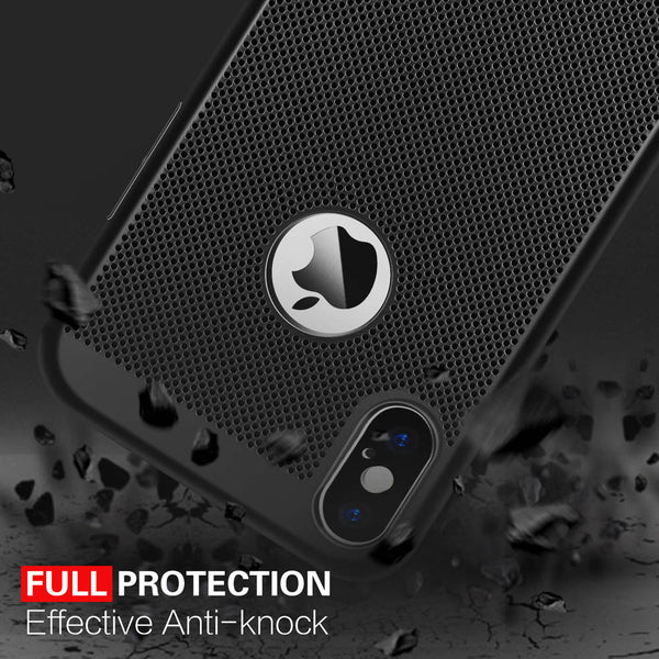 iphone X breathable cover anti shock