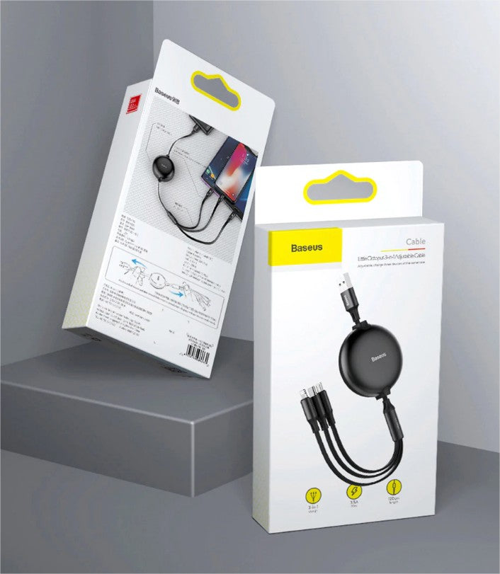 baseus octopus portable 3 in 1 cable in pakistan